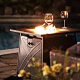 """BALI OUTDOORS Firepit LP Gas Fireplace 28"""" Square"""