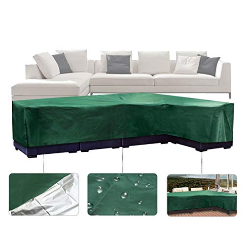 Amazon.com : ESSORT Patio Sectional Furniture Cover, L Shape ...