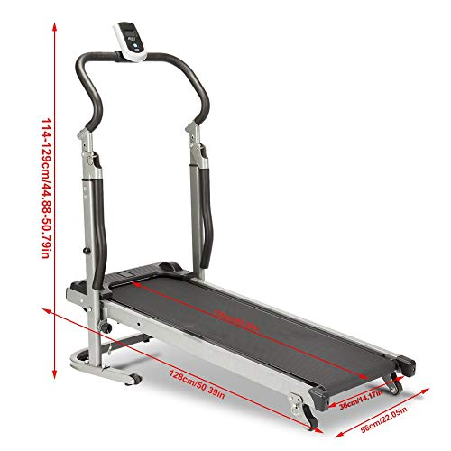 Homgrace Folding Manual Treadmill Running Machine with Incline Settings (Black) by Homgrace (Image #8)