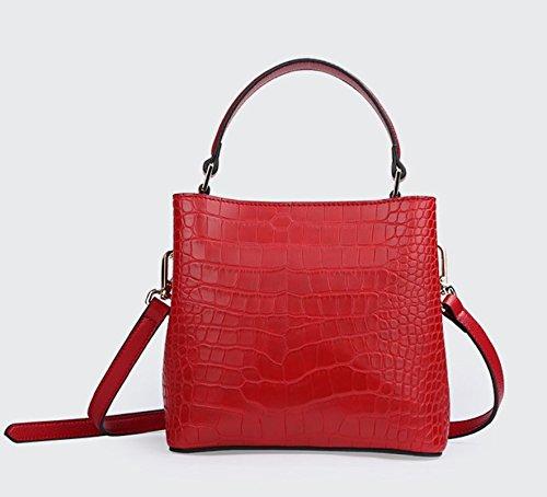 Black Cocodrilo Niñas Red Casual PINCHU para De Bolso De Hombro qW86F