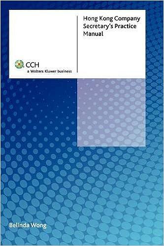 The hong kong company secretary's handbook: practice and procedure.