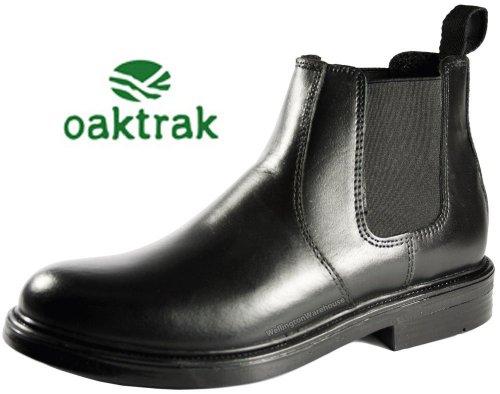 cuir Oaktrak en Walton Noir Homme chelsea Bottines noir qxwg67