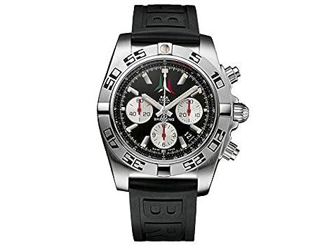 Breitling AB01104DBC62153S - Reloj de cuarzo para hombre, con correa de goma, color negro: Amazon.es: Relojes