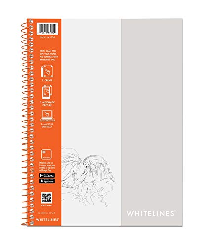 Roaring Spring Whitelines Sketch Book, 12x9, 50 sheets