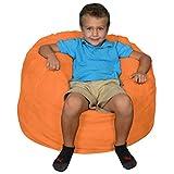 Comfy Sacks Kids Memory Foam Bean Bag Chair, Tangerine Micro Suede