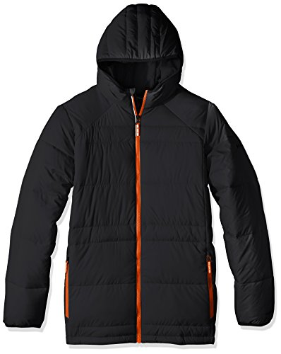 Price comparison product image Columbia Boys Gold 550 Turbodown Hooded Down Jacket, Black, X-Small