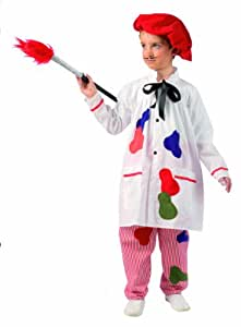 Limit Sport MI541 - Disfraz de pintor para nio (talla 2, incluye pantaln, sombrero, pincel y camisa)