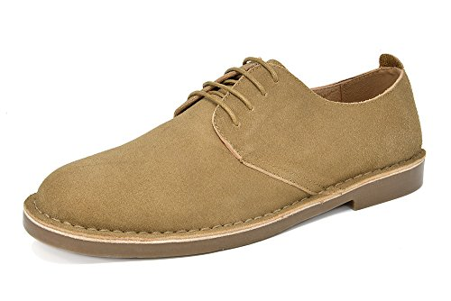 Bruno Marc Men's Francisco-Low Sand Suede Leather Lace Up Oxfords Shoes - 14 M ()