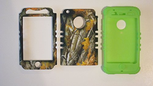 Silicone Case for Apple iPhone 3G 3GS Oak Camo with Lime Green Skin