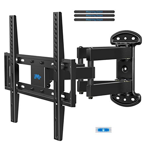 Mounting Dream TV Mount Bracket Full Motion TV Wall Mounts for 26-55 Inch LED LCD Plasma Flat Screen TV, Wall Mount with Swivel Articulating Dual Arms TV Bracket up to ()