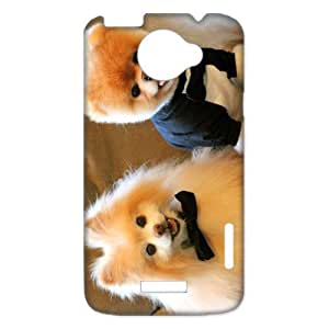 2014 Hot Sale Boo The Dog Cute Dress Up Cell Phone Hard Plastic Cover Case (HD Image) For HTC one x