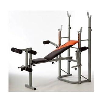 Compacto plegable banco de entrenamiento con pesas, banco de sentadillas para press de banca, butterfly, ...