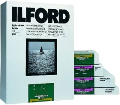 for Printing from Conventional Negatives. Glossy Ilford Multigrade FB Classic Fiber Based Variable Contrast 50 Sheets Doubleweight Black /& White Enlarging Paper 11x14