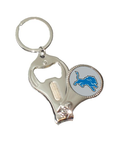 NFL Detroit Lions 3-in-1 Nailclipper Keychain