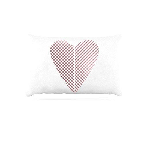 Kess InHouse Belinda Gilles Cross My Heart Multiple  Red Pattern Fleece Dog Bed, 30 by 40