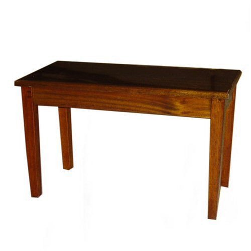 Cameron & Sons CS-10 WAHP Walnut Piano Bench with Storage Wood Top, Brown