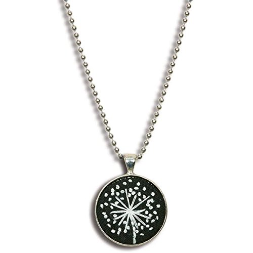 - Dimensions Dandelion Necklace Embroidery Craft Kit, Black and White