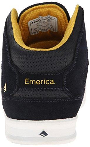 Emerica The Reynolds, Herren Skateboardschuhe Blau (Bleu (Navy/Yellow))