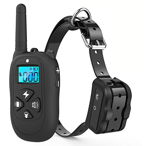 Vanleng Dog Training Collar with Remote 1800ft Rechargeable IP7 Waterproof Shock Anti Bark E-Collar Tone/Vibration/Shock Modes for Small Medium Large Dogs, NO Hurt (for one Dog)