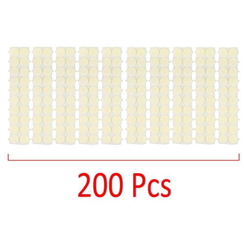 Pack of 200 pcs Candle Wick Stickers - Kare & Kind retail packaging (200 pcs, white) ()