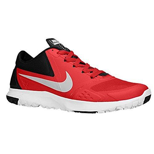 Nike FS Lite Trainer II Men Round Toe Synthetic Blue Running Shoe University Red Metallic Platinum Black White 600 MwwIHWoM