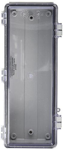 BUD Industries NBF-32408 Plastic Outdoor NEMA Economy Box with Clear Door, 10-5/8'' Length x 3-59/64'' Width x 2-3/4'' Height, Light Gray Finish by BUD Industries