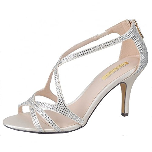 Glamour - Zapatos con tacón mujer Beige
