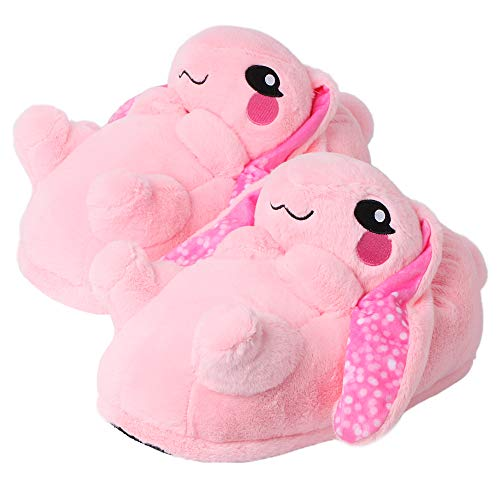 corimori 1847 - Bunny Bonnie Cute Plush 3D Animal Shaped Slippers, Funny Lounge Shoes, Childrens Sizes 9-2