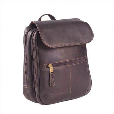 (Clava Flap Organizer Backpack - Backpack - Leather - Vachetta Black - Vachetta Black)