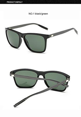 Black Gafas para de hombre TR90 Clear polarizadas de Green Gray sol Aprigy aluminio gPw4P
