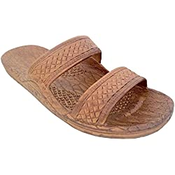 Pali Hawaii Unisex Adult Classic Jandal Sandal (Light Brown, 8)