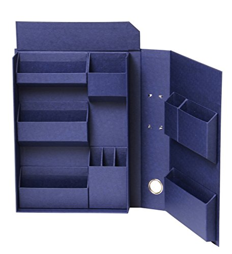 Nakabayashi Lifestyle tool accessories storage box file A4 navy LST-FA4NV (A4) by Nakabayashi Co.,Ltd