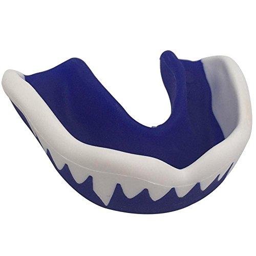 Sharks Rugby - Gracefulvara SHARK Teeth Gum Shield Mouth Guard Protection for Boxing MMA Football Hockey Blue
