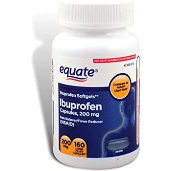 Amazon Com Equate Ibuprofen Softgels 200 Mg 160 Liquid