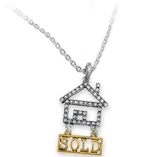 Real Estate Sold Crystal Necklace, Safe-Nickel, Lead & Cadmium Free!