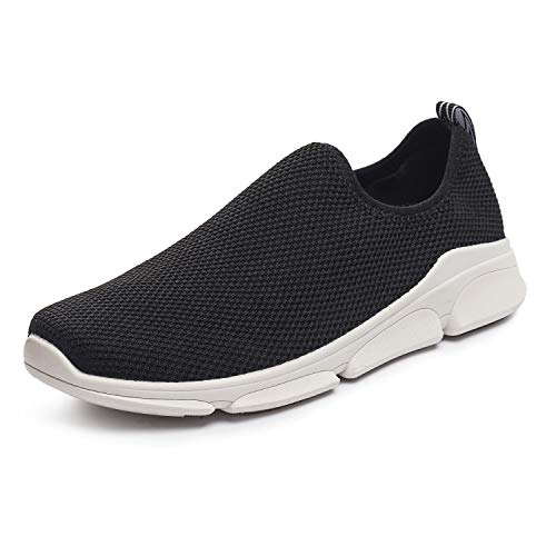 RongXing Womens Sneakers Lightweight Breathable Slip On Sports Shoes Casual Walking Footwear Indoor Outdoor Size 7-11 (US 7, Black1)