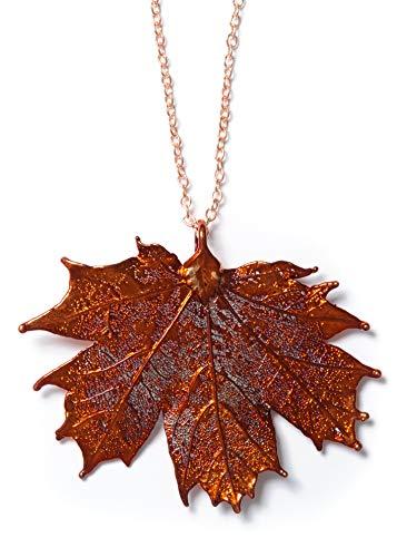 Artisan Outlet LLC Sugar Maple Leaf Necklace (Iridescent Copper) (Pendant Maple Leaf)