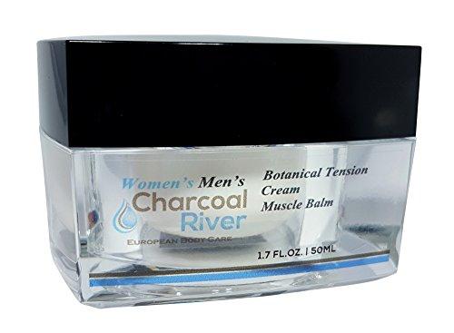 Charcoal rivière féminin et masculin botanique Tension musculaire crème Baume