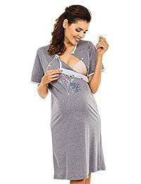 Zeta Ville - Womens Maternity Nursing Nightdress Breastfeeding Nightie - 362c