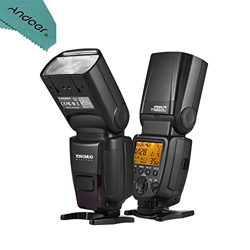 YONGNUO YN860Li Universal Wireless Master Slave Flash Speedlite GN60 LCD Display With 1800mAh Li-ion Battery & Battery Charger for Canon Nikon Sony DSLR Camera by Andoer