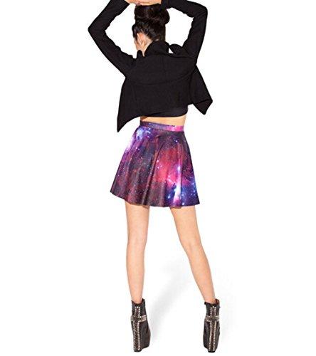[mode] Été Imprimé Mode À La Mode Jupe Robe Plissée Yw-clkt1009-l-violet