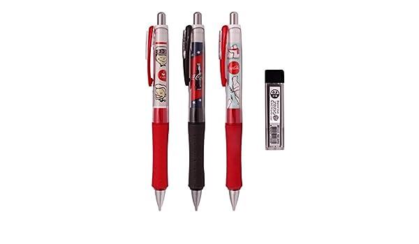 Coca-Cola oficial autorizado coctelera portaminas (Pack de 3 lápices) + plomo 1 tubo: Amazon.es: Oficina y papelería
