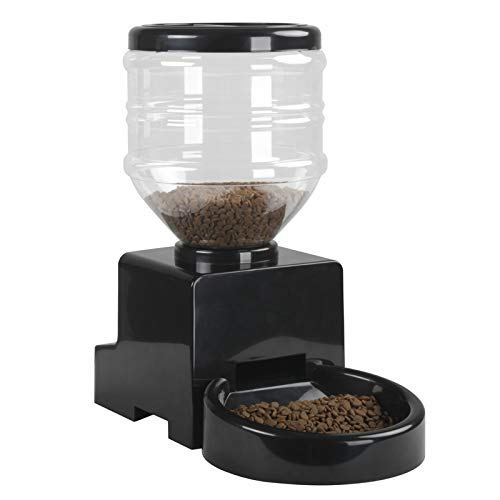 PESDA Automatic Pet Feeder Digital Programmable Timer 5L Dry Cat Dog Food Station Dispenser with Voice Recording Up to 6…
