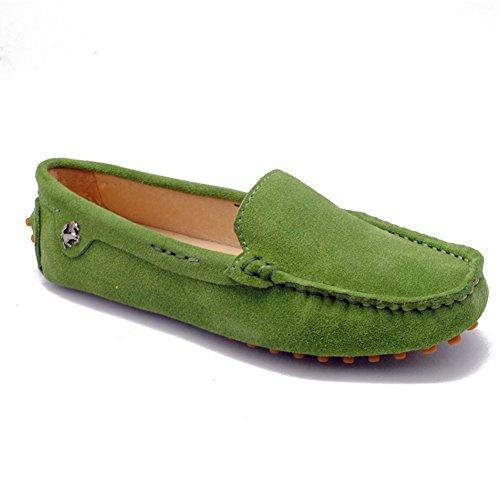 Tda Kvinners Komfortabel Kjøring Turvei Kjører Båt Sko Slip-on Leiligheter Loafers Grønn
