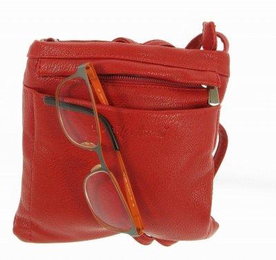 chronotom, Borsa a tracolla donna Rosso rosso 18cm, 3cm, 18cm,