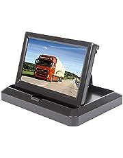 Yasoca Car Truck Vehicle Small Mini Digital 5 Inch Monitor Screen Flip Down Folding Foldable by HitCar