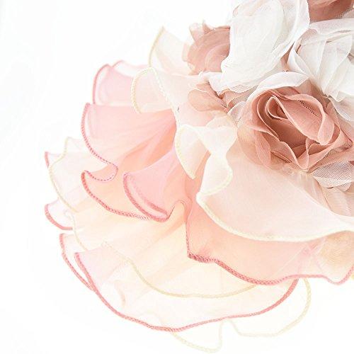 3D Chiffon Rose Dog Dress For Cat Pet Dog Skirt Dog Wedding Dress Outfits Apparel Summer Small Dog Shirt Clothes (L(Back12.9'' Bust18.8), Pink) by DIAN DIAN Pet (Image #5)