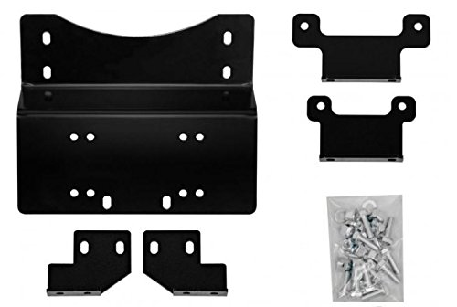 - SuperATV Heavy Duty Winch Mounting Plate for Honda Pioneer 700/700-4 (2014+)
