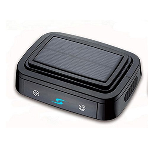 Solar Car Air Purifier, 6 Million Negative Ion Solar Charging Activated Carbon Composite Filter Air Generator Effective Deodorization Formaldehyde Smog,Black