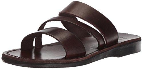 Jerusalem Sandals Womens Boaz Slide Sandal Brown
